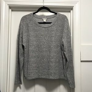 Cozy Gray Long Sleeve Top